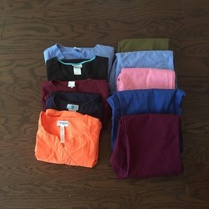 Other - Scrubs Lot 10 Pc Size Small Tops & Pants